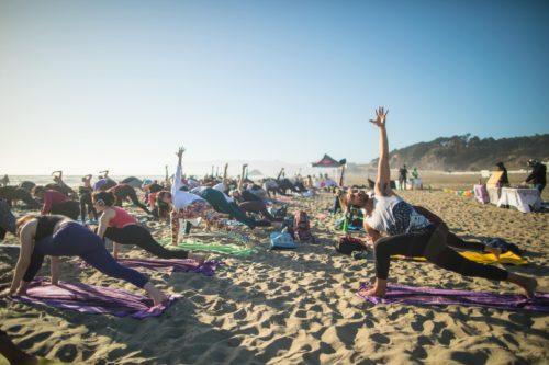 Golden Hour Beach Yoga with Nicole Cronin