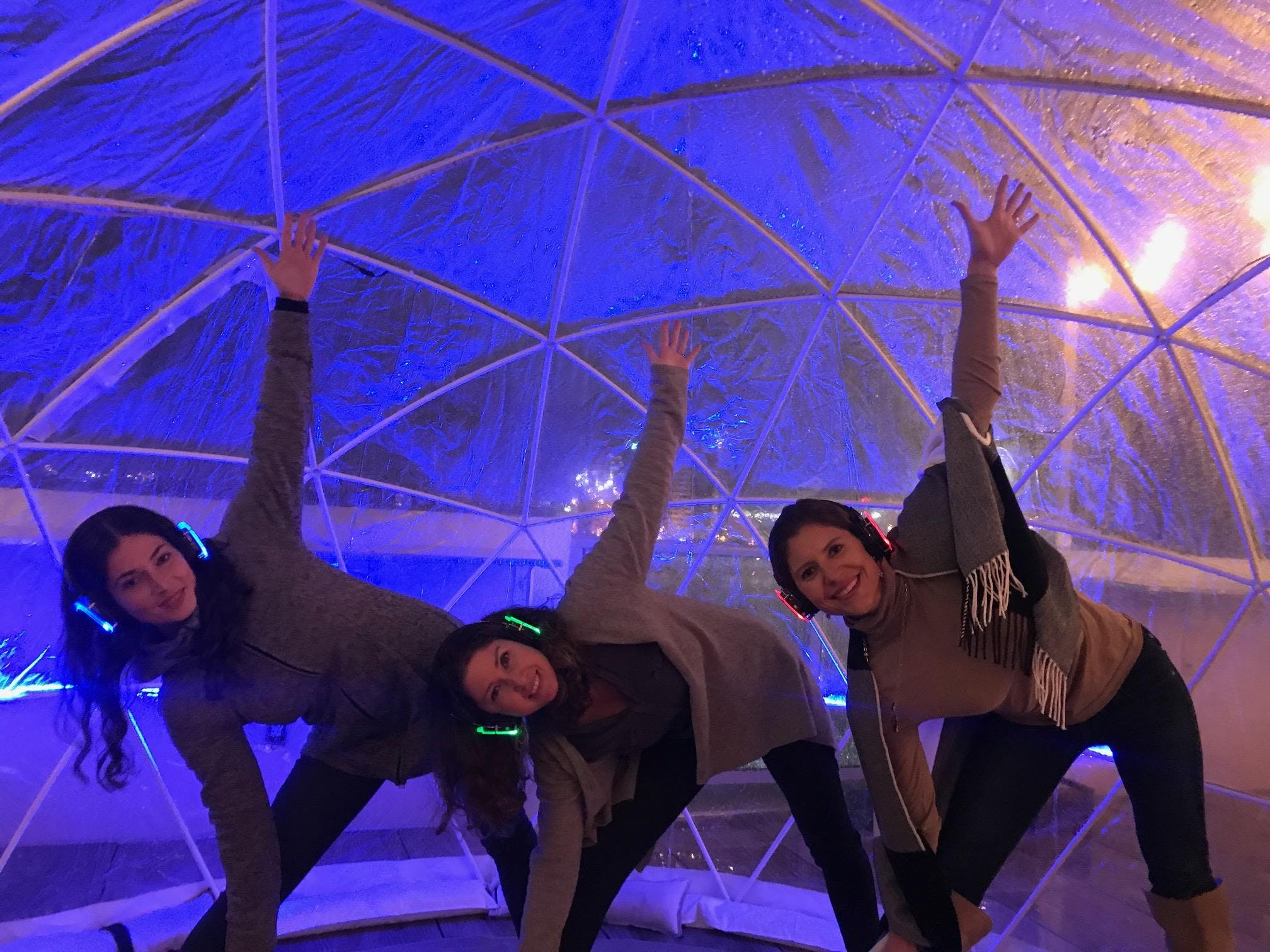 Sound Off Yoga in the Igloos at the AC Rooftop!
