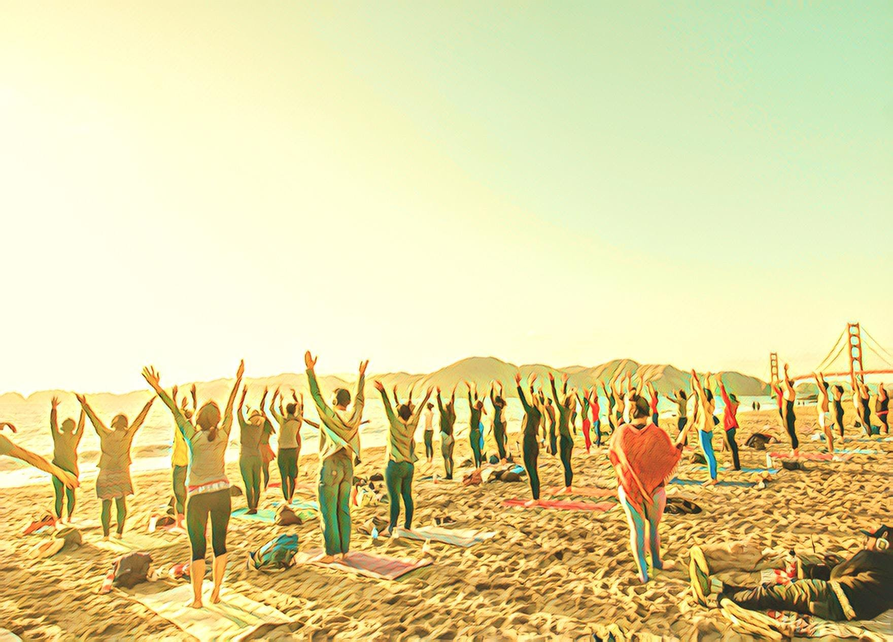 Saturday Groove: Beach Yoga with Erin Gillmore!
