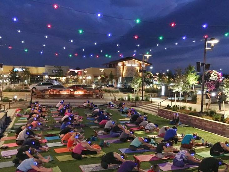 Sunset Silent Yoga on the Village Lawn